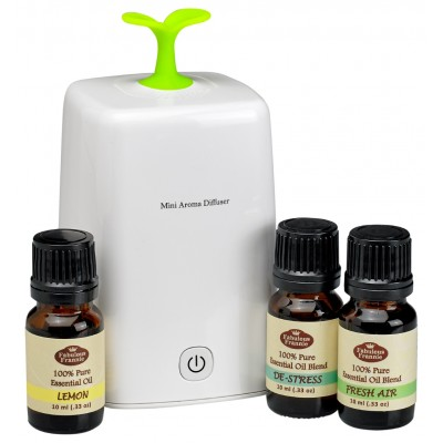 Nebulizing Aromatherapy Diffuser with 3 Oils (Your Choice)