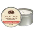 Vanilla Rose All Natural Soy Candle