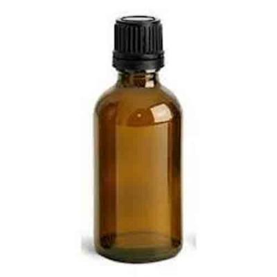 1oz Amber Glass Bottle Black Euro Cap