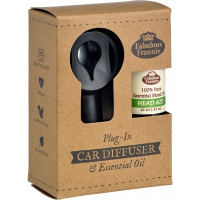 Car Scenter Electric Diffuser with Oil - Head Aid
