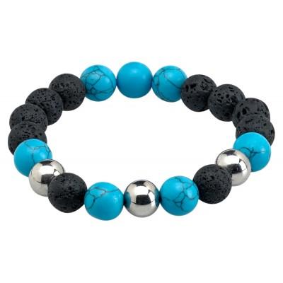 Bracelet Lava Ball Turquoise