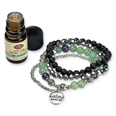 Bracelet Lava Ball Healing Stack Set with 5mL Oil