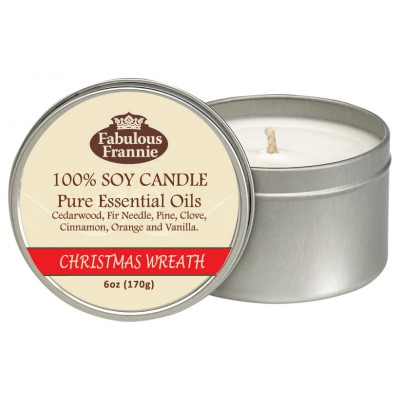 Christmas Wreath All Natural Soy Candle