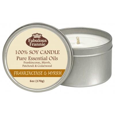 Frankincense & Myrrh Essential Oil Candle 6oz Tin