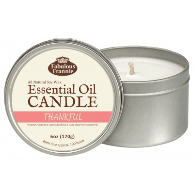 Thankful Essential Oil Candle 6oz Tin
