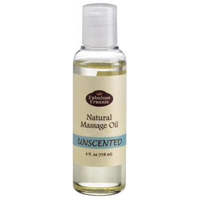 Massage Oil Unscented Pure & Natural Oil 4 oz