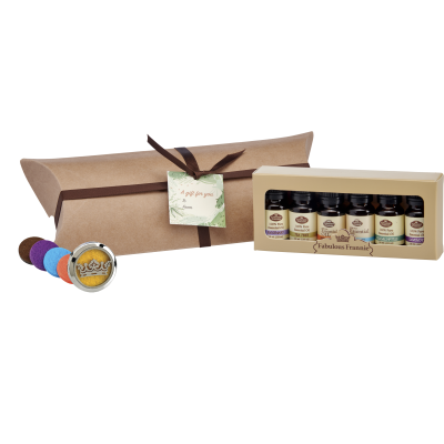 Sampler Box Gift Set with Car Clip