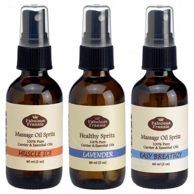 Aromatherapy Massage Spray Trio