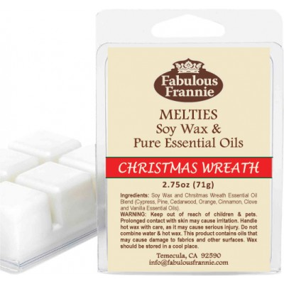 Christmas Wreath 100% Pure & Natural Soy Meltie 2.75 oz
