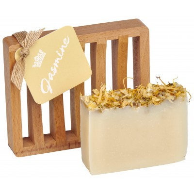 Jasmine All Natural Bar Soap 4oz - Soap Dish Gift Set