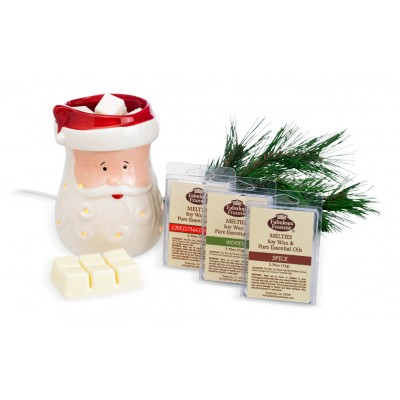 Santa Meltie Warmer with 3 Melties (Your Choice)