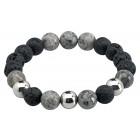 Bracelet Lava Ball Grey Obsidian