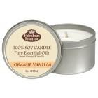 Orange Vanilla Essential Oil Candle 6oz Tin