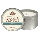 Relax Essential Oil Candle 6oz Tin