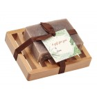Cinnamon Natural Herbal Bar Soap 4 oz - Soap Dish Gift Set