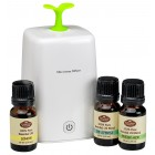 Aromatherapy Nebulizing Diffuser with 3 Oils (Your Choice)