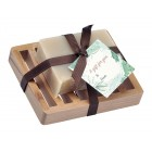 Frankincense & Myrrh Natural Herbal Bar Soap 4 oz - Soap Dish Gift Set