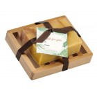 Bay Rum Natural Herbal Bar Soap 4 oz - Soap Dish Gift Set