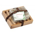 Peppermint Natural Herbal Bar Soap 4 oz - Soap Dish Gift Set