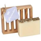 Lavender Bulgarian All Natural Bar Soap 4oz - Soap Dish Gift Set