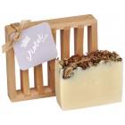 Violet Lavender All Natural Bar Soap 4oz - Soap Dish Gift Set